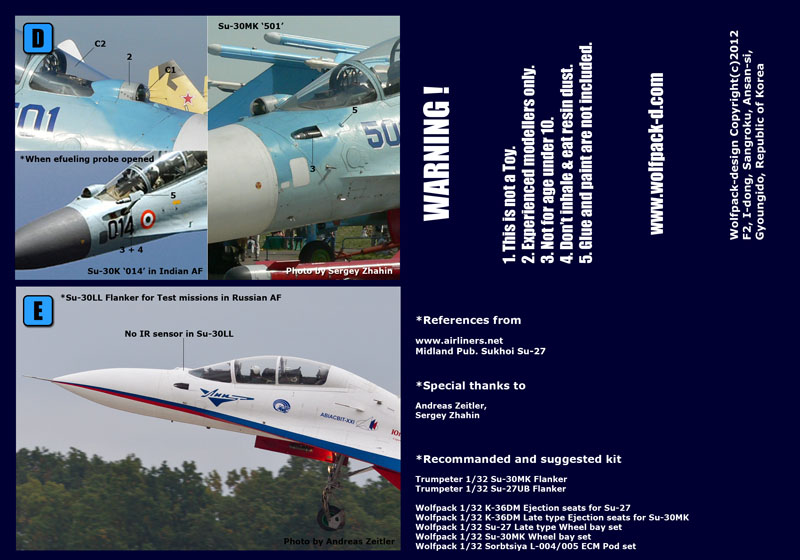 WOLFPACK WP32046 K-36DM Late Type Ejection Seats for Trumpeter® Su-30MK in 1:32